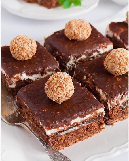 Шоколадный торт Ferrero Rocher без выпечки