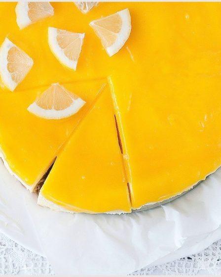 лимонный чизкейк без сыра