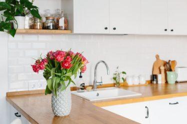 цветы в кухне